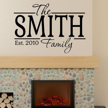 The Smith Family Personalized Custom Name Vinyl Wall Decal Sticker