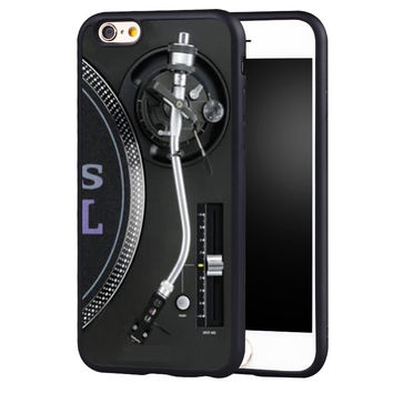 Retro Technics Turntables DJ Desgin Phone Case Skin For iPhone 6 6S Plus 7 7 Plus 5 5S 5C SE 4 4S Rubber Soft Cell Housing Cover