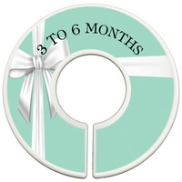 Custom Baby Closet Dividers Clothes Organizers - Tiffany Blue Box Inspired