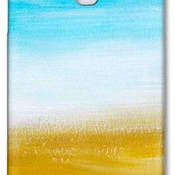 Aqua Gold Abstract Painting Galaxy S4 Case