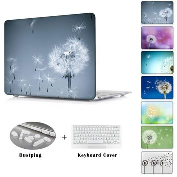 New Dandelion beautiful fly pqttern printed Case  for Macbook Pro 13.3 15.4 12 Retina Mac Air 11 13 Case Accessories