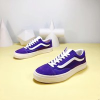 """Vans Old Skool"" Unisex Casual Classic Low Help Skateboard Plate Shoes Couple Fashion Sneakers"