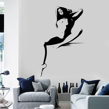 Vinyl Wall decal Hot Sexy Woman Naked Girl Adult Decor Stickers (ig3728)