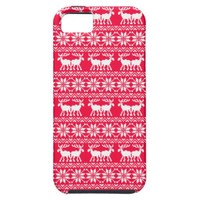 Ugly Christmas sweater pattern red iPhone 5 Cases from Zazzle.com