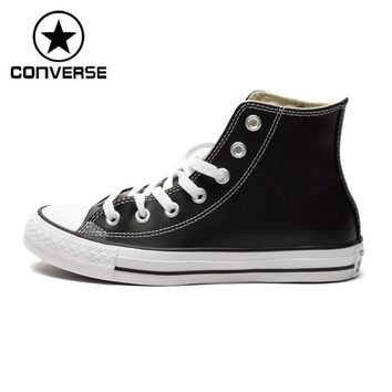 Orignial Converse High top classic Unisex leather skateboarding shoes Canvas sneakser