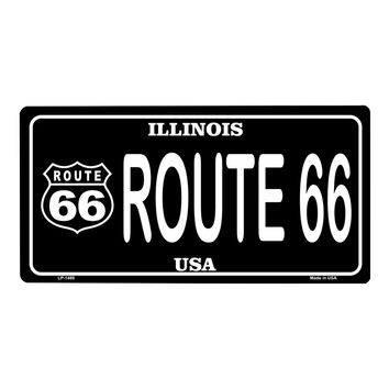 Smart Blonde Route 66 Illinois Vanity Metal Novelty License Plate Tag Sign