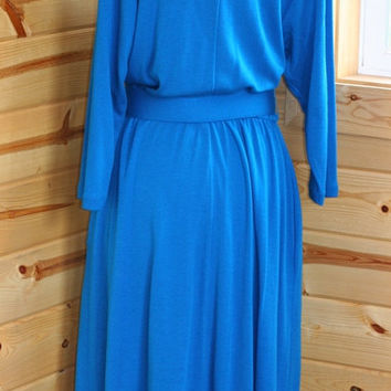 Vintage Pellini Knit Dress/Aqua Blue/Von Bramlett