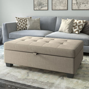 CorLiving Antonio Upholstered Storage Ottoman | Overstock.com Shopping - The Best Deals on Ottomans