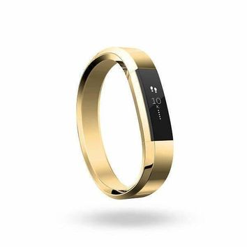 Fitbit Accessory Band Metal Bracelet, Gold (Size S)