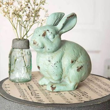 Set of 4 Bunny Garden Statue