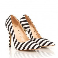 Missguided - Jarko Striped Court Heels