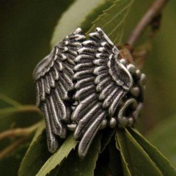 Silver Folded Wings Ring by ragtrader on Etsy