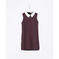 TOPSHOP Enzyme Check Smock Dress