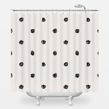 Scribble Dots Shower Curtain