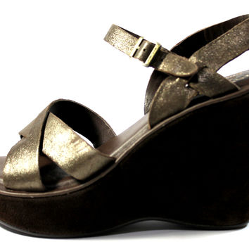 Kork-Ease Women's Bette Bay Metallic Brown Strap Sandals