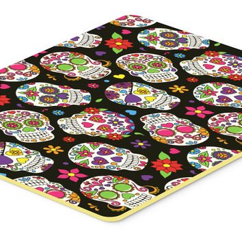 Day of the Dead Black Kitchen or Bath Mat 20x30 BB5116CMT