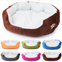 Pet Products Cotton Pet Dog Bed for Cats Dogs Small Animals Bed House Pet Beds Cushion High Quality Cheap Free Shipping