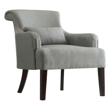 Topline Landin Wing Back Accent Chair - Grey