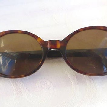 Vintage Dolce and Gabbana Sunglasses, Ladies Tortoise Glasses, DG 507S, Authentic Italian Designer Sunglasses