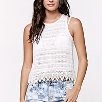 LA Hearts Sweater Knit Crochet Trim Tank Top at PacSun.com