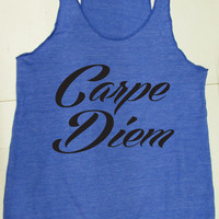 Carpe Diem Eco Friendly Tank Top. Yoga Tank Top. Namaste. Motivational Tank Top. Yoga Clothes. Hot Yoga. Yoga Shirt. Pilates. Inspirational.