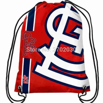St Louis Cardinals Drawstring Bags Men Sports Backpack Digital Printing Pouch Customize Bags 35*45cm Sports US Baseball Team