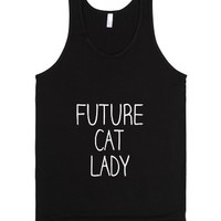 Future Cat Lady-Unisex Black Tank