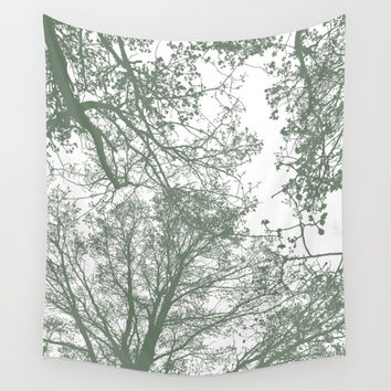 Abstract Trees Wall Tapestry by ARTbyJWP