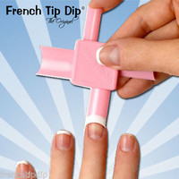 Easy French Manicure. French Tip Dip tool kit.Use any nail polish or gels. WOW!