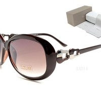 Dior Round Glasses Mirrored Flat Lenses Street Fashion Metal Frame Women Sunglasses [2974244634]