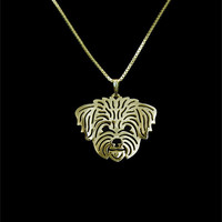 Bichon Frise  Necklace 3DCut Out Puppy Dog Lover Pendant Memorial Necklaces & Pendants Gold/Silver Planted Christmas Gift