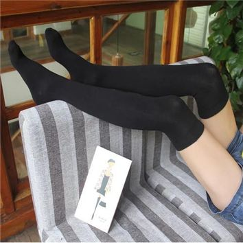 Solid Color Sport Gym Stretch Socks Stockings