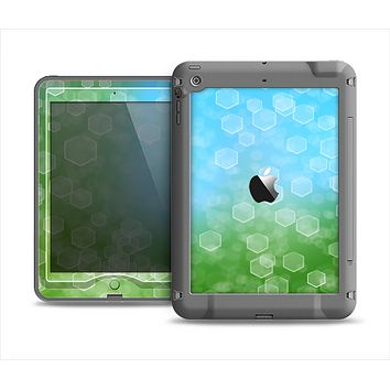 The Abstract Shaped Sparkle Unfocused Blue & Green Apple iPad Mini LifeProof Nuud Case Skin Set