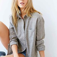 BDG Linen Button-Down Shirt-