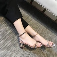 BURBERRY Women Fashion Casual Heels Shoes Sandals Shoes