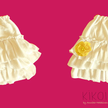 Ruffle skirt pattern - easy PDF sewing pattern for girls and babies - sizes 6m to 9 years