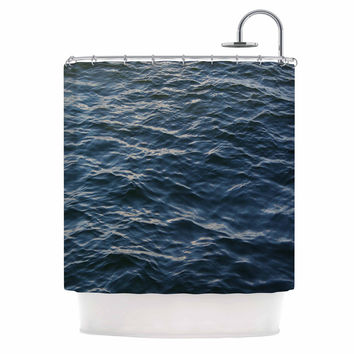 "Suzanne Carter ""Deep Water"" Nautical Blue Shower Curtain"
