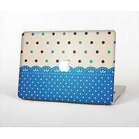 """The Tan & Blue Polka Dotted Pattern Skin Set for the Apple MacBook Air 13"""""""
