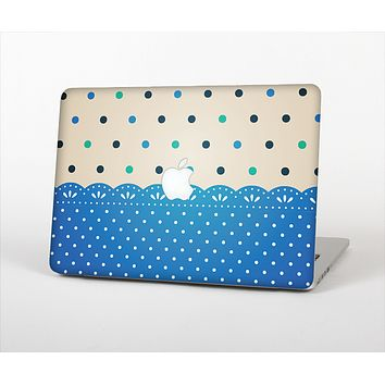 The Tan & Blue Polka Dotted Pattern Skin Set for the Apple MacBook Air 13""