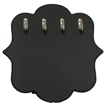 Black Chalkboard Prop Jewelry Easel Tabletop Display with 4 Silver Hooks- Small