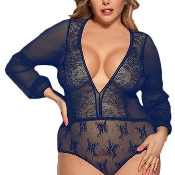 Atomic Blue Exquisite Long Sleeved Teddy