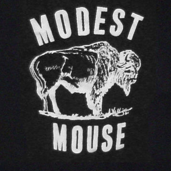 Modest Mouse indie rock band logo t-shirt S-3XL Black punk retro FAST SHIP