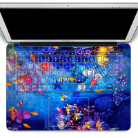 Fish - macbook keyboard cover - macbook pro keyboard stickers