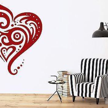 Wall Vinyl Sticker Decal Decorative Picture Heart Kiss Love Unique Gift (n134)