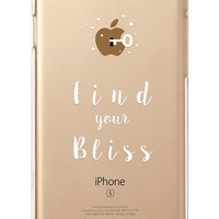 iPhone Rubber Case - BLISS - iPhone 6s case, iPhone 6 case, iPhone 6+ case - Clear Flexible Rubber TPU case IC02