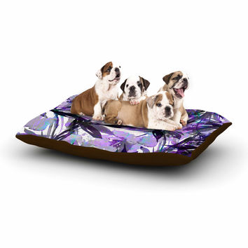 "Ebi Emporium ""Floral Fiesta Lavender"" Painting Watercolor Dog Bed"