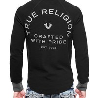 True Religion Crafted With Pride Mens Thermal - Black