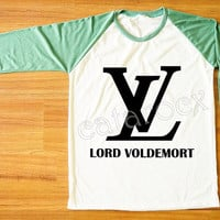 LV Lord Voldemort T-Shirt Harry Potter Shirt Parody Shirt Green Sleeve Tee Shirt Women T-Shirt Men Shirt Unisex T-Shirt Baseball Shirt S,M,L