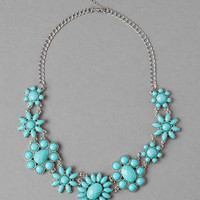 ROXBORO JEWELED NECKLACE IN TURQUOISE