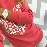 Red Heart Long Sleeve Sweatshirt Tops [9022086596]